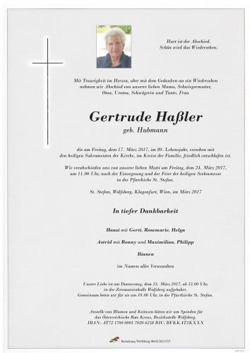 Gertrude Haßler