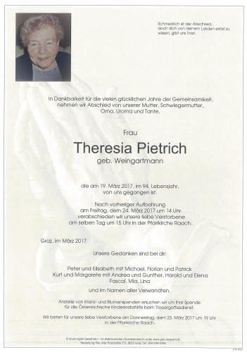 Theresia Pietrich