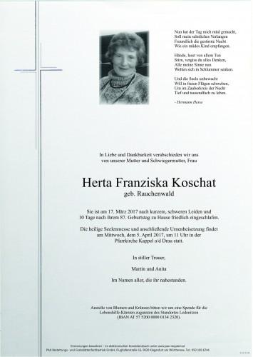 Herta Franziska Koschat
