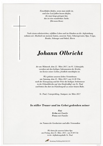 Johannn Olbricht
