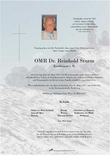 OMR Dr. Reinhold Sturm