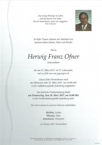 Herwig Franz Ofner