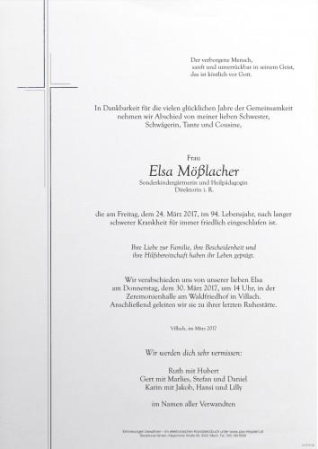 Elsa Mößlacher