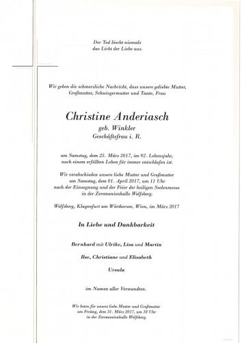 Christine Anderiasch