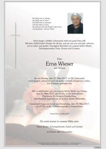 Erna Wieser geb. Schumi
