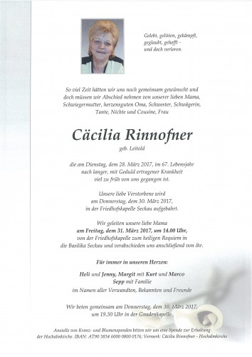 Cäcilia Rinnofner