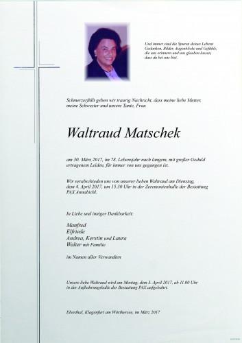 Waltraud Matschek