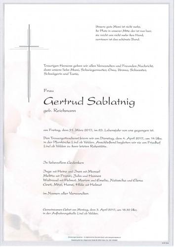 Gertrud Sablatnig
