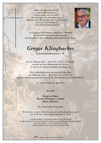 Gregor Klingbacher