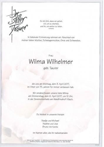 Wilma Wilhelmer