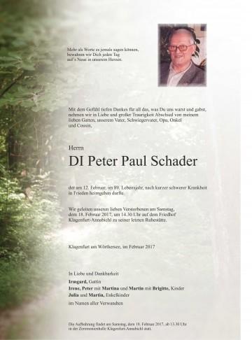 DI Peter Paul Schader