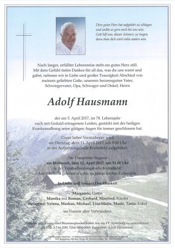 Adolf Hausmann