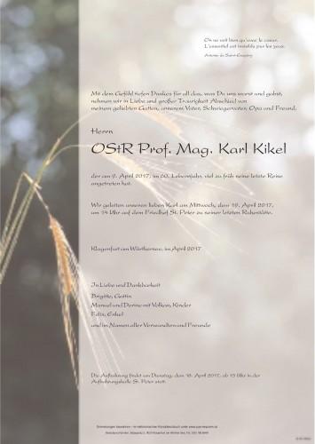 OStR Prof. Mag. Karl Kikel