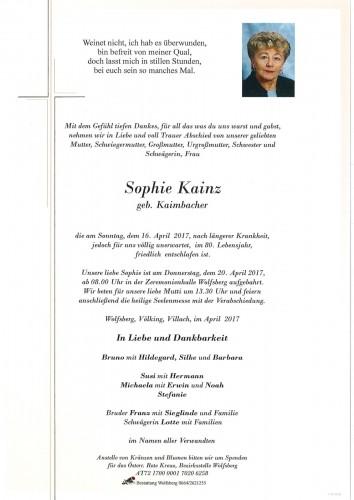Sophie Kainz