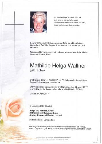 Mathilde Helga Wallner