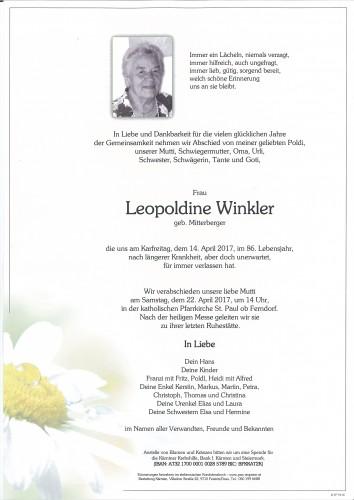 Leopoldine Winkler, geb. Mitterberger