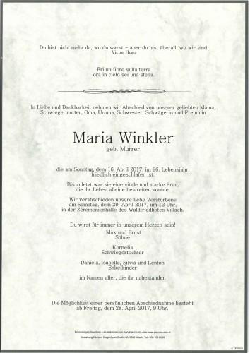 Maria Winkler geb. Murrer