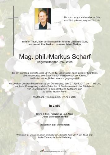 Mag. phil. Markus Scharf