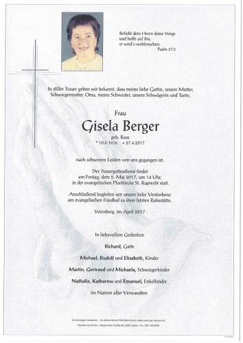 Gisela Berger geb. Ross