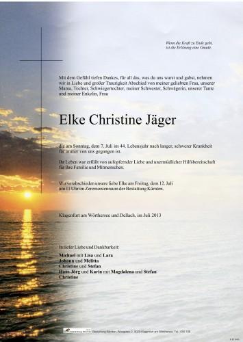Elke Christine Jäger, geb. Zwischenberger