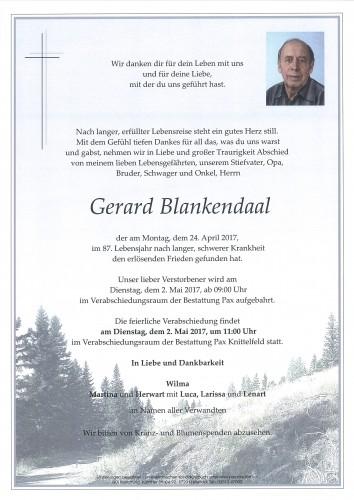 Gerard Blankendaal