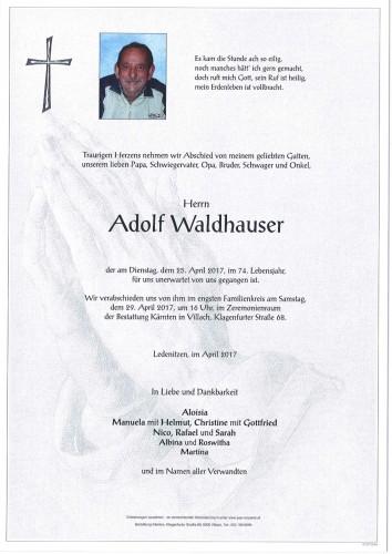Adolf Waldhauser