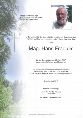 Mag. Hans Fraeulin