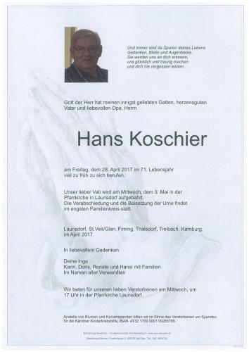 Hans Koschier
