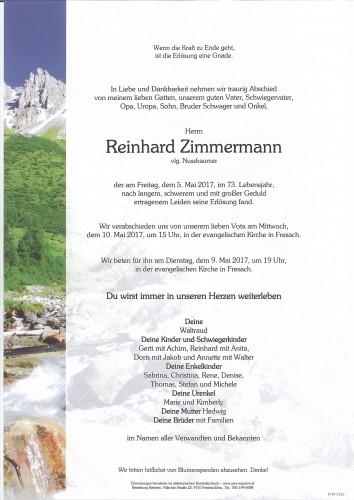 Reinhard Zimmermann, vlg. Nussbaumer