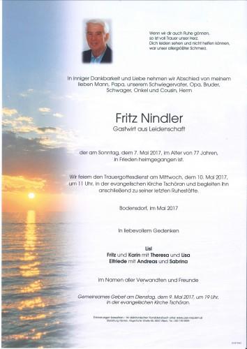Fritz Nindler