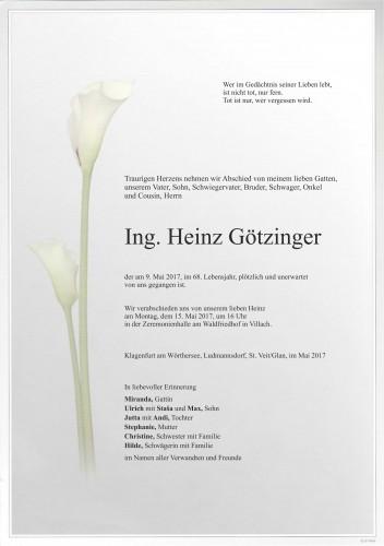 Ing. Heinz Götzinger