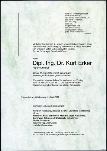 Dipl. Ing. Dr. Kurt Erker