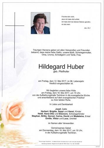Hildegard Huber geb. Pfeifhofer