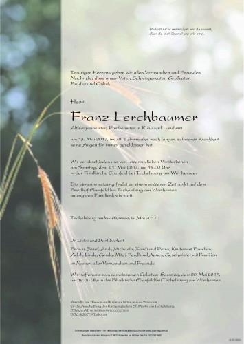 Franz Lerchbaumer