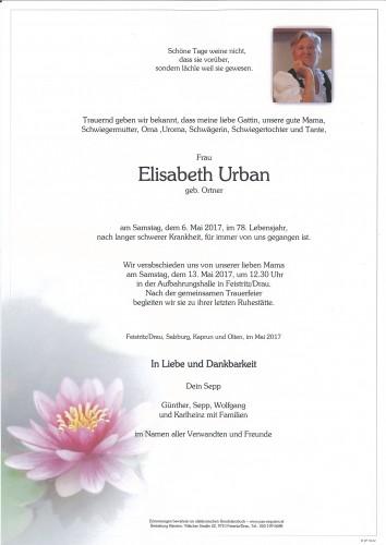 Elisabeth Urban, geb. Ortner