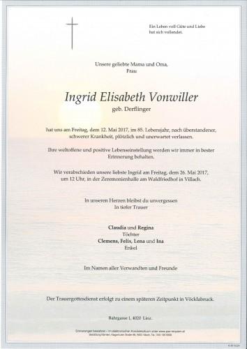 Ingrid Vonwiller