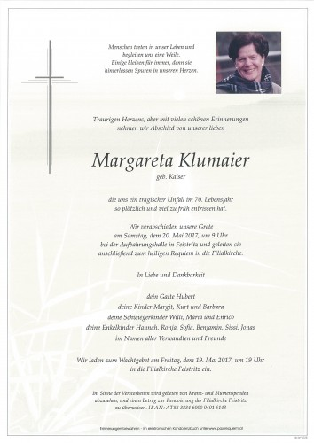 Margareta Klumaier