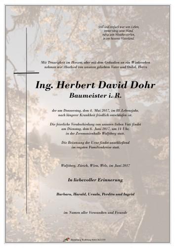 Ing. Herbert David Dohr