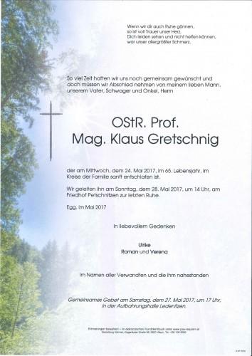 OStR. Prof. Mag. Klaus Gretschnig