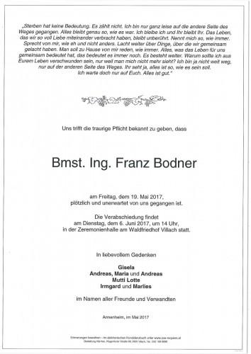 Bmst. Ing. Franz Bodner