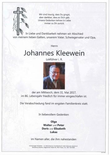 Johannes Kleewein