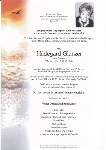 Hildegard Glanzer, geb. Demers
