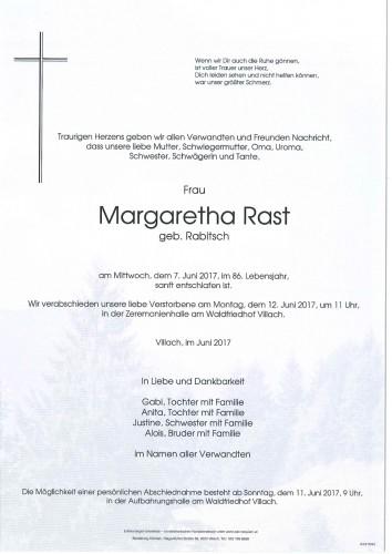 Margaretha Rast