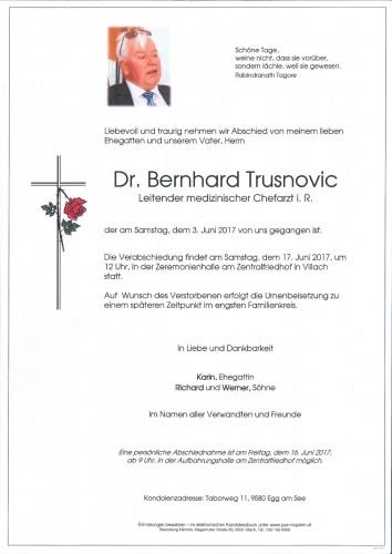 Dr. Bernhard Trusnovic