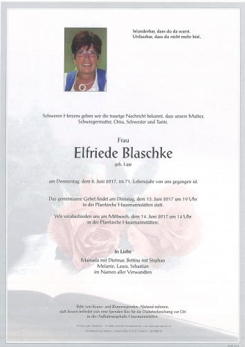 Elfriede Blaschke