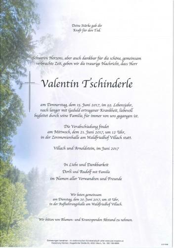 Valentin Tschinderle