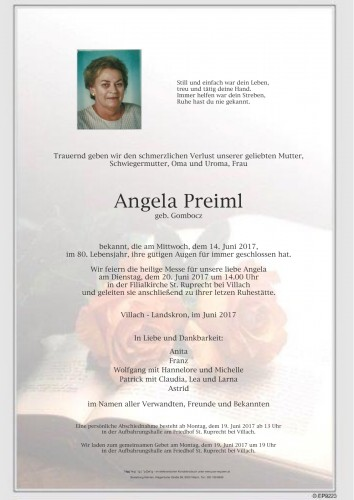 Angela Preiml, geb. Gombocz