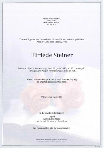 Elfriede Steiner