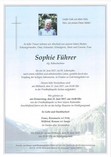 Sophie Führer; vlg. Kühschachner
