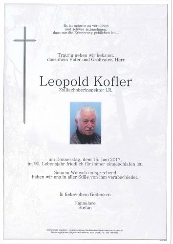 Leopold Kofler